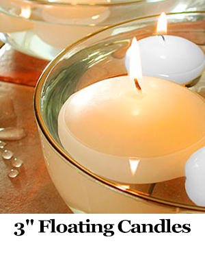 3 inch floating candles
