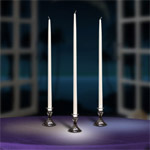 24 Inch Firestop (Self-Extinguishing) Taper Candles (3 colors)