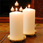 "3"" x 6"" Fireside Pillar Candle"