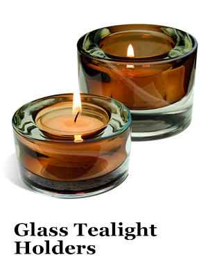 Brown Glass Tealight Candle Holders
