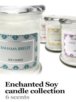 enchanted soy candle collection