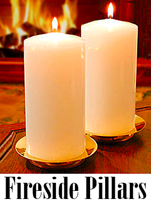 3 x 6 Fireside Pillar Candles