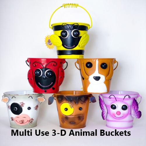 Multi use 3-D Animal Buckets