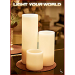 Large Ivory Pillar Candle Pedestals