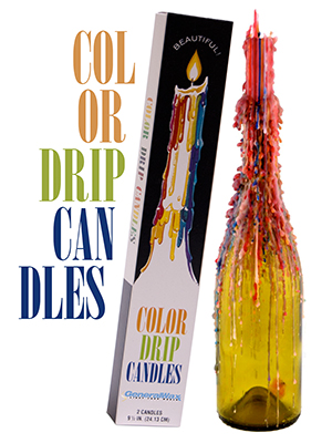Multi-Color Drip Taper Candles
