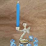 Angel Pillar Candle Holder