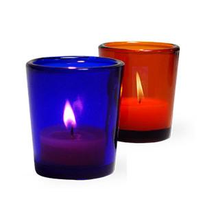 e3a5a4b4d Colored Glass Votive Candle Holder