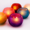 Shanti Collection: Glass Tealight Candle Container