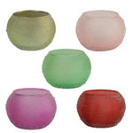 Shanti Collection:Glass Tealight Candle Container