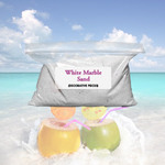 Decorative White Marble Sand - 1 lb. Bag
