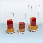Square Glass Candle Holder (5