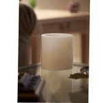 6 in x 6 in Ivory Hollow Core Candle Pedestal