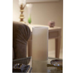 6 in x 12 in Ivory Hollow Core Candle Pedestal