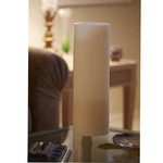 6 in x 18 in Ivory Hollow Core Candle Pedestal